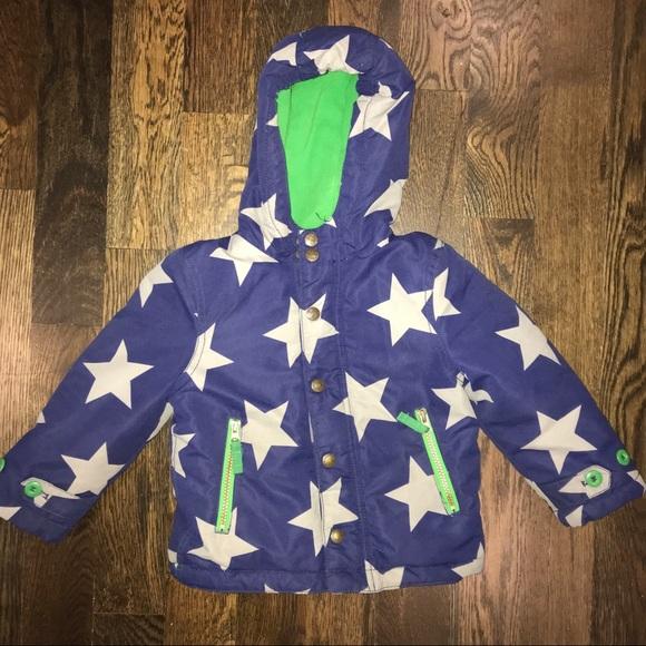 7718243eb Mini Boden Jackets & Coats | Boys Toddler Fleece Lined Coat Stars ...